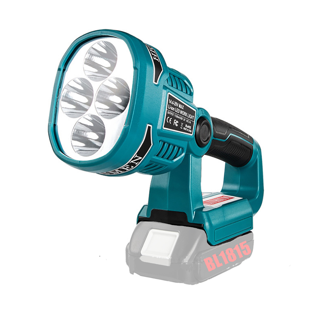 Cordless LED Spotlight Work Light Pivot Torch Lamp USB For Makita 14.4V-18V LXT