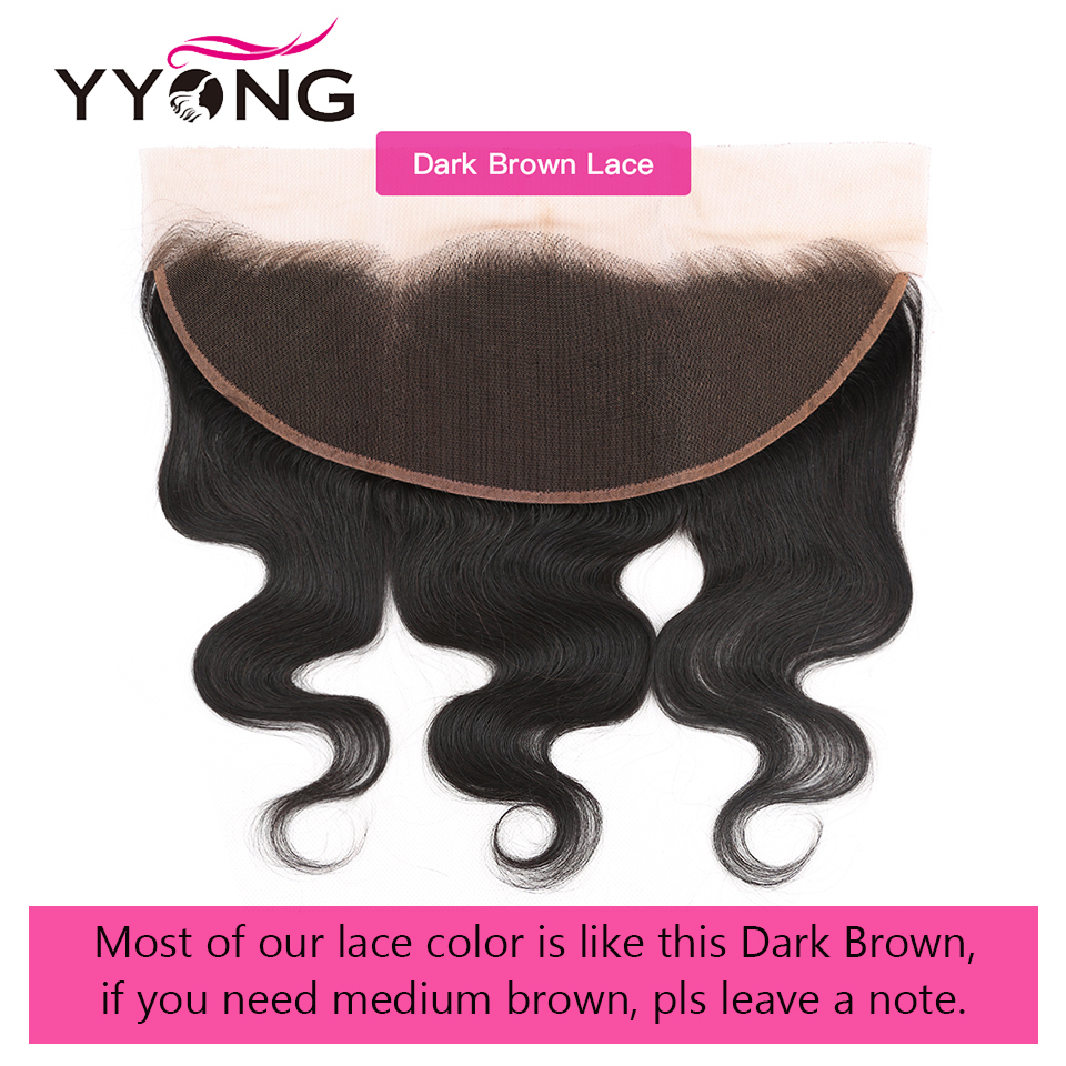 Yyong Hair Body Wave Bundles With Frontal Closure Ear To Ear Lace Frontal With Bundles 4 Bundles  100%  2