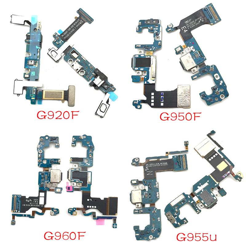 USB Connector Charge Port Flex For Samsung S6 S7 Edge S8 S9 Plus G920F G925F G930F G935F G950F G950U G960F G960U G965F G965U