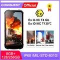 CONQUEST S16 ATEX взрывозащищенный телефон Android Прочный IP68 Водонепроницаемый NFC смартфоны IP68 сотовый телефон разблокирован
