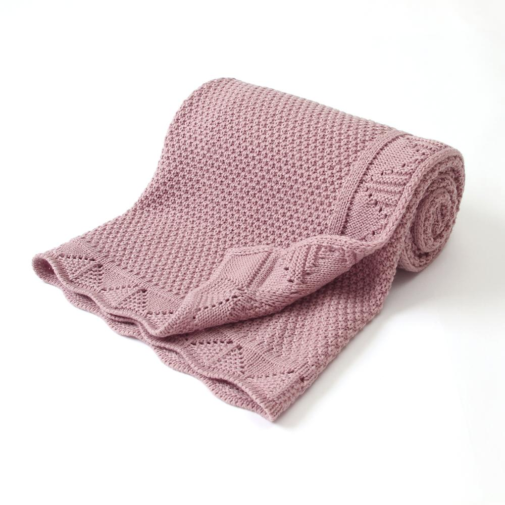 Baby Blankets Knitted Newborn Swaddle Wrap Crib Quilt Super Soft Toddler Infantil Stroller Sofa Bedding Sleeping Covers 100*80cm