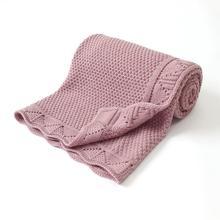 Детские одеяла вязаные для новорожденных пеленать обертывание кроватки одеяло Супер мягкий малыш обувь infantil коляска спальный диван постельные принадлежности чехлы 100*80см
