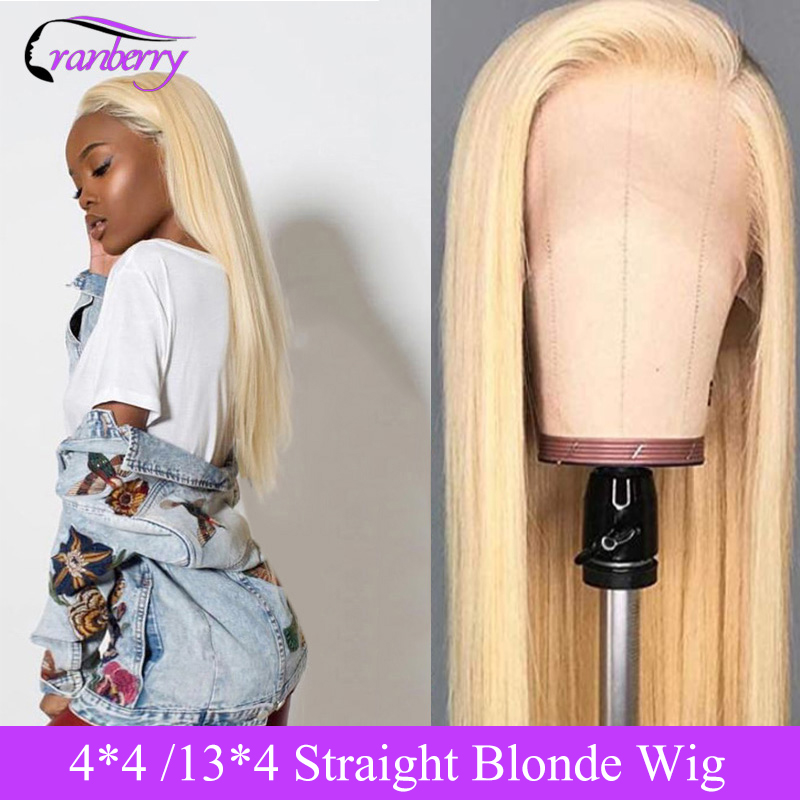 Cranberry Hair 613 Lace Front Wig 13X4 Lace Front Human Hair Wigs Blonde Lace Front Wig Remy Brazilian Straight Lace Closure Wig