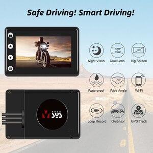 Image 2 - SYS VSYS M2F שדרוג אופנוע DVR WiFi סופר ראיית לילה Sony STARVIS הכפול 1080p עמיד למים אופנוע דאש מצלמה מקליט