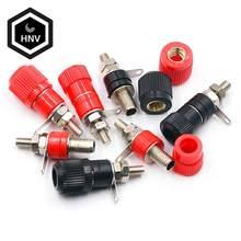 10 PÇS/LOTE Blocos Terminais JS-910B 4mm Conector do Terminal Amplificador Binding Post Banana Plug Jack Monte 5 5 Preto Vermelho