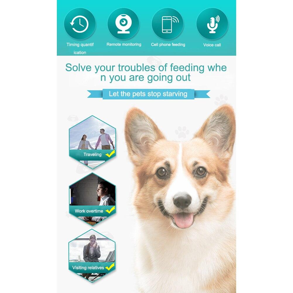 Wifi Пульт дистанционного управления, Умная автоматическая кормушка для домашних животных, 4.5L, корм для кошек, перезаряжаемая с видеомонитором, кормушка для домашних животных