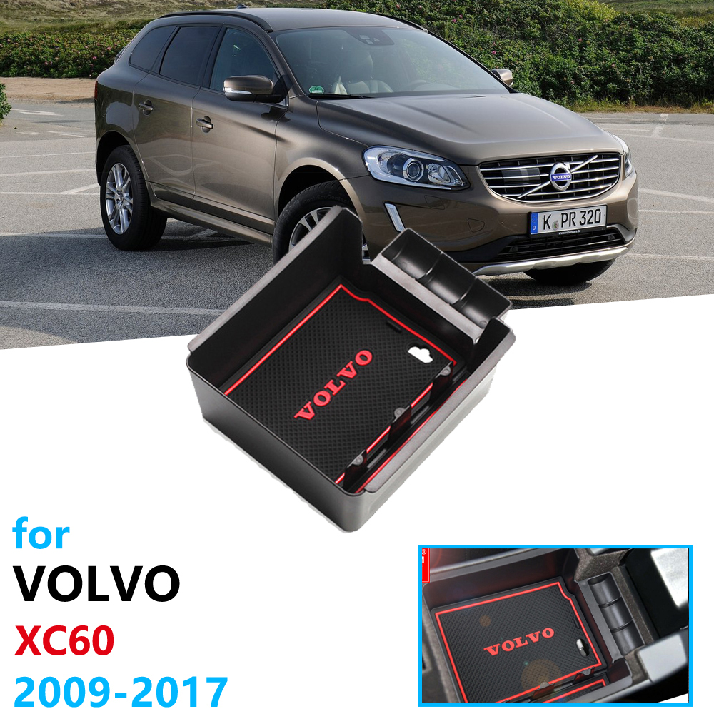 Car Organizer Accessories for <font><b>VOLVO</b></font> XC60 2009 ~ <font><b>2017</b></font> <font><b>XC</b></font> <font><b>60</b></font> Armrest Box Storage Car Stickers 2010 2012 2014 2015 2016 <font><b>2017</b></font> image