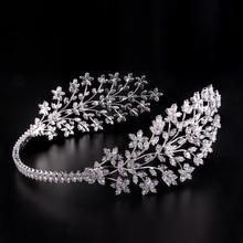 INS Style Bride Crown Crystal Headdress Wedding Makeup Birthday Party Headband Zircon Tiaras for Women