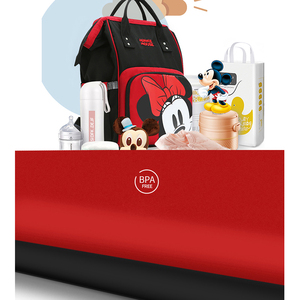 Image 4 - Disney Minnie Đáng Yêu Mickey Đỏ Chéo Chống Thấm Nước/Chăm Sóc Em Bé/Xác Ướp Túi Đồ Ba Lô Lớn Tã Túi Sọc NƠ CHẤM Nụ Cười