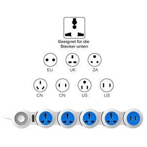 Image 2 - Güç şeridi 4 elektrikli evrensel prizler fişler dalgalanma koruma soketi USB 1.8m uzatma kablosu uzay tasarrufu pratik