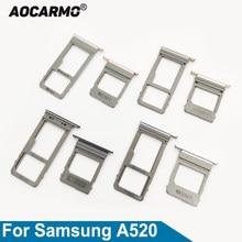 Aocarmo para samsung galaxy a5 (2017) a520 a7 a720 duplo & único cartão sim microsd titular nano placa bandeja slot peça de substituição