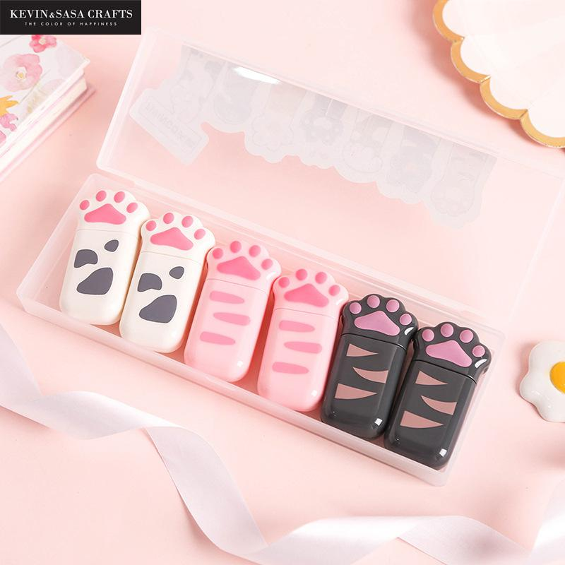 6pcs/set Cats Correction Tape Stationery Office Tools Corrector Design Presented By Kevin&Sasa Crafts