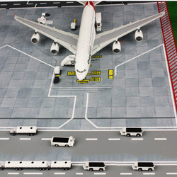 1/400 Proportion Ground Mini Car Airport Simulation Scene Display Trailer tow truck mode for Aircraft fan Collection kid