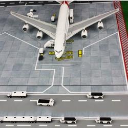 1/400 proporción tierra Mini coche aeropuerto simulación escena pantalla remolque camión modo para la colección de ventiladores de avión chico