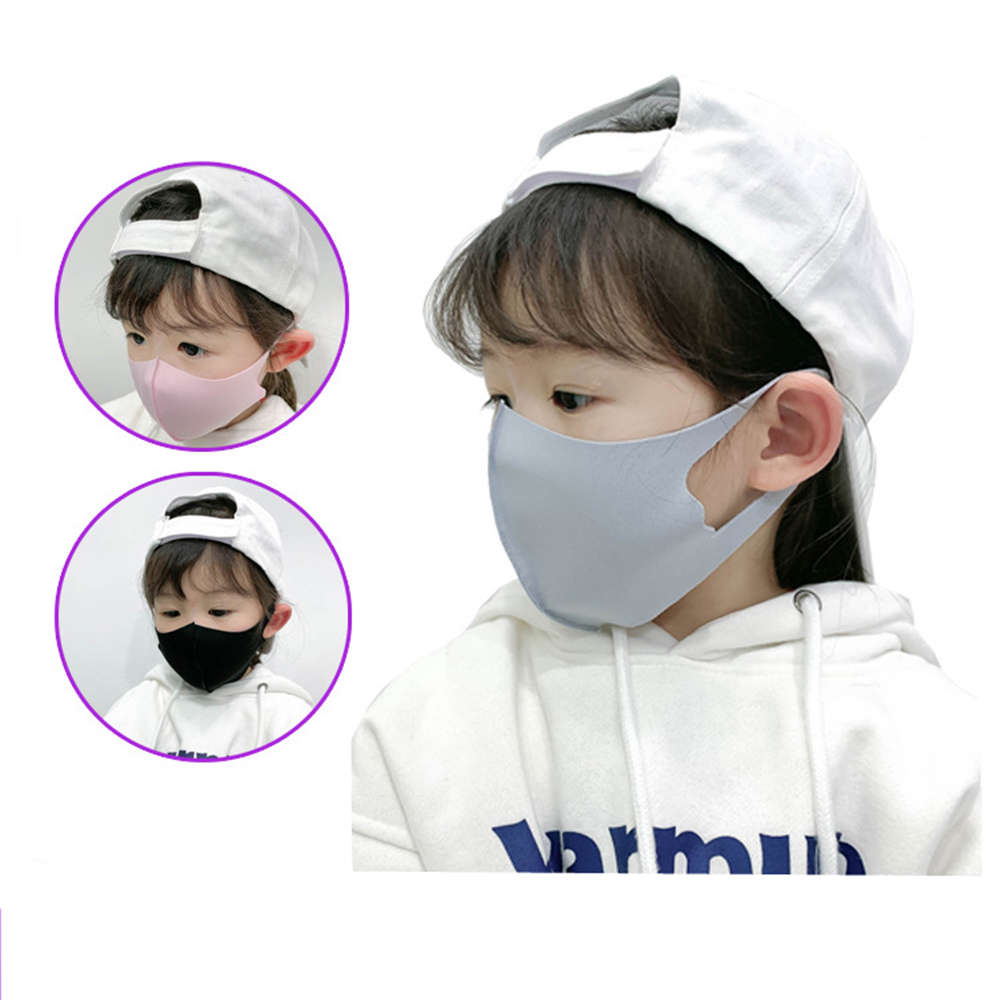 1Pcs Mouth Face Mask For Kids Black Mouth Mask Anti Haze Dust Washable Reusable Dustproof Mouth-muffle