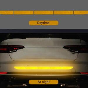 Image 4 - Samochodowe naklejki odblaskowe zewnętrzny pasek ostrzegawczy odblaskowa taśma bezśladowa ochronna naklejka samochodowa Trunk Body akcesoria samochodowe