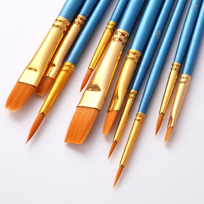 Набор кистей для рисования BOMEIJIA, 10 шт./упак., акриловая акварель маслом для художника, профессиональные наборы для рисования 4
