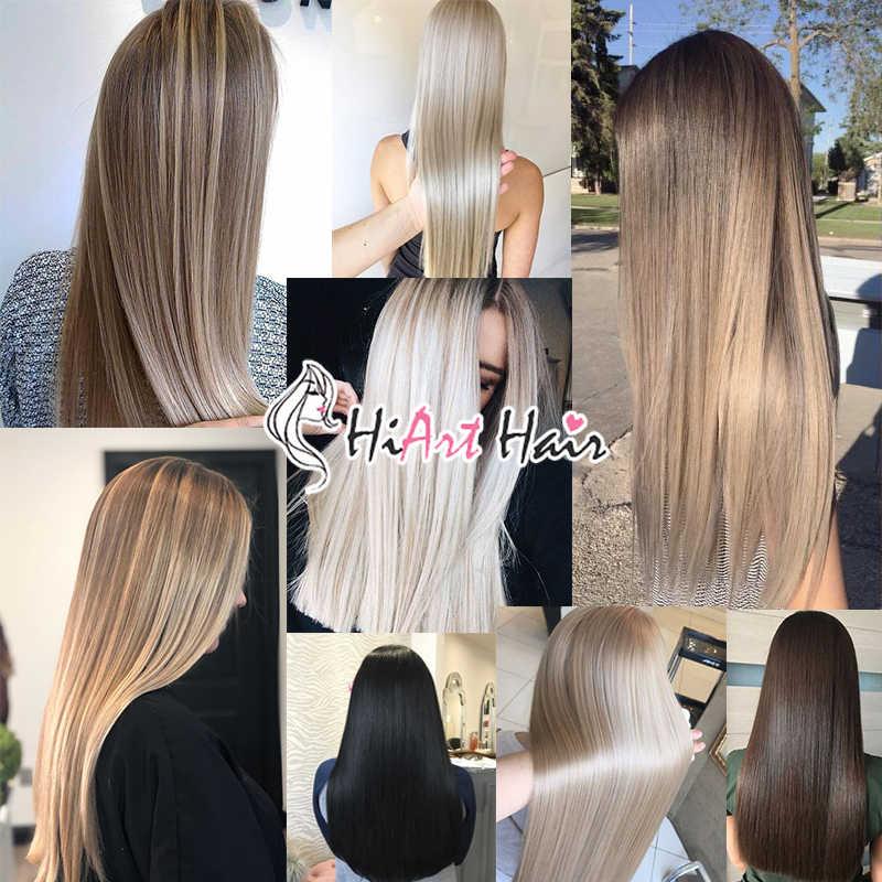 "Hiart 2G Tape Hair Extensions Fabriek Balayage Menselijk Remy Kapsalon Double Drawn Steil Haar Uitbreiding Plakband 18 ""-22"""