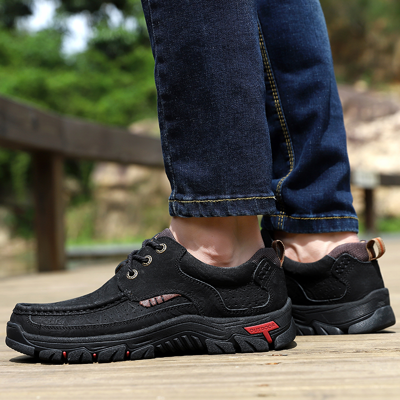 H4678714b2b244fc290de70a3197316f03 High Quality 2019 New Men Comfortable Sneakers Waterproof Shoes Leather Sneakers Fashion Casual Shoes Male Plus Size 38-48