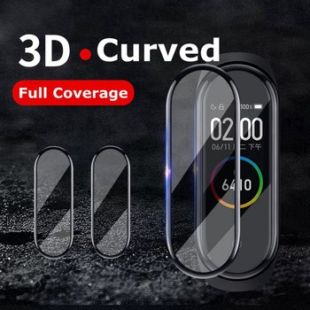 3D Protective Glass for Xiaomi mi band 4 film on Mi band4 mi 5 Smart Watchband 4 Full Cover Soft Screen Protector Glass Film