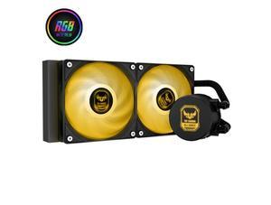 ID-охлаждение AURAFLOW 240 RGB светильник эффектов интегральный кулер для процессора с водяным охлаждением 240 рядов с полной платформой с пряжкой в...