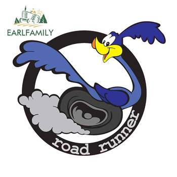 EARLFAMILY 13cm x 11.4cm For Road Runner Vinyl Material Car Stickers Comical Decal Waterproof Occlusion Scratch JDM SUV RV