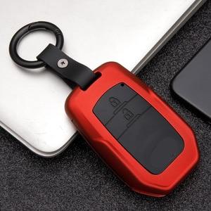 Image 2 - Fashion ABS Silica gel+Carbon fiber car key cover case protect For Toyota Camry CHR Prius Corolla RAV4 Prado Auris Corolla Avens