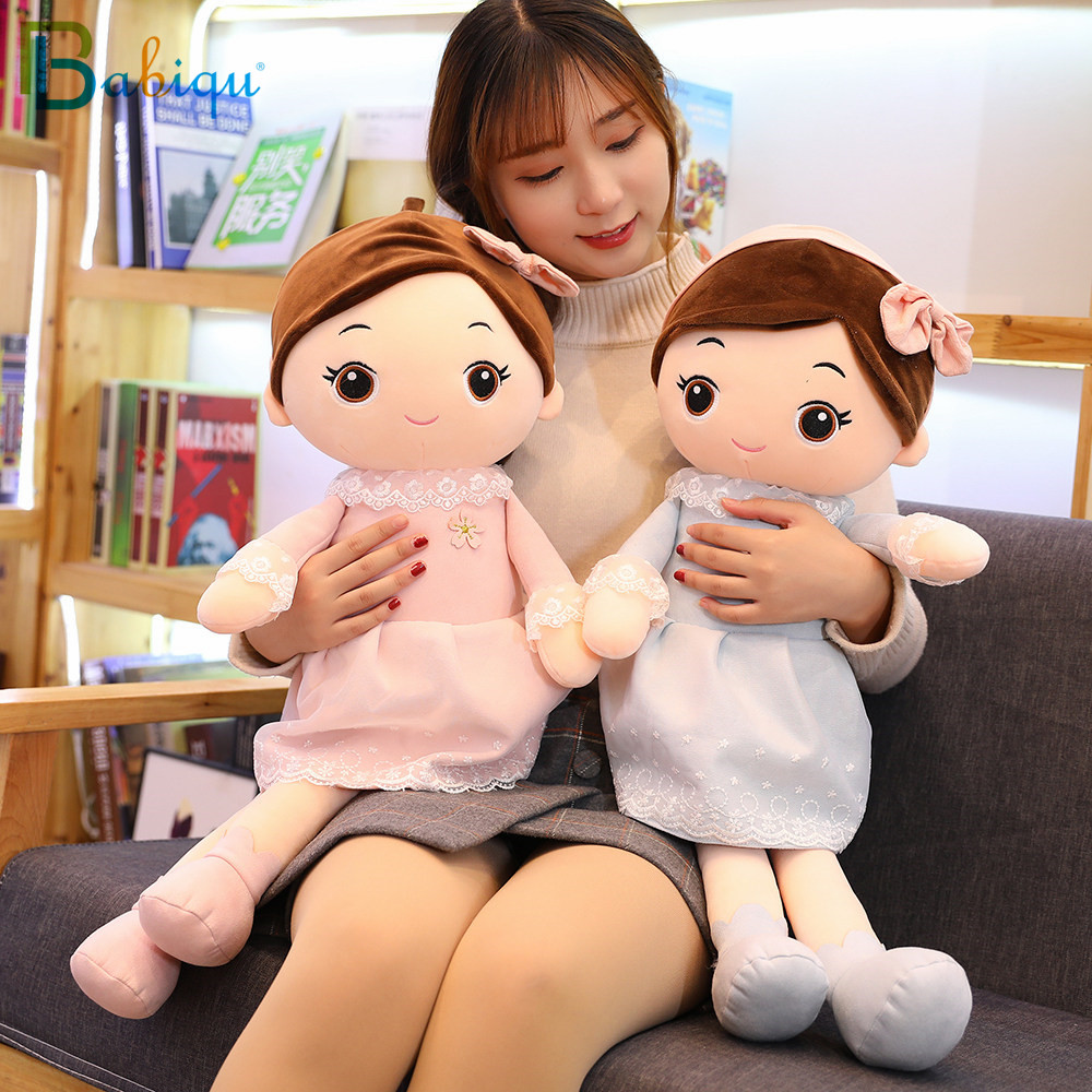 40-90cm Kawaii Plush Girl Dolls With Lace Clothes Soft Stuffed Dolls Lovely Plush Toys Girl Toys Kids Birthday Valentine Gift