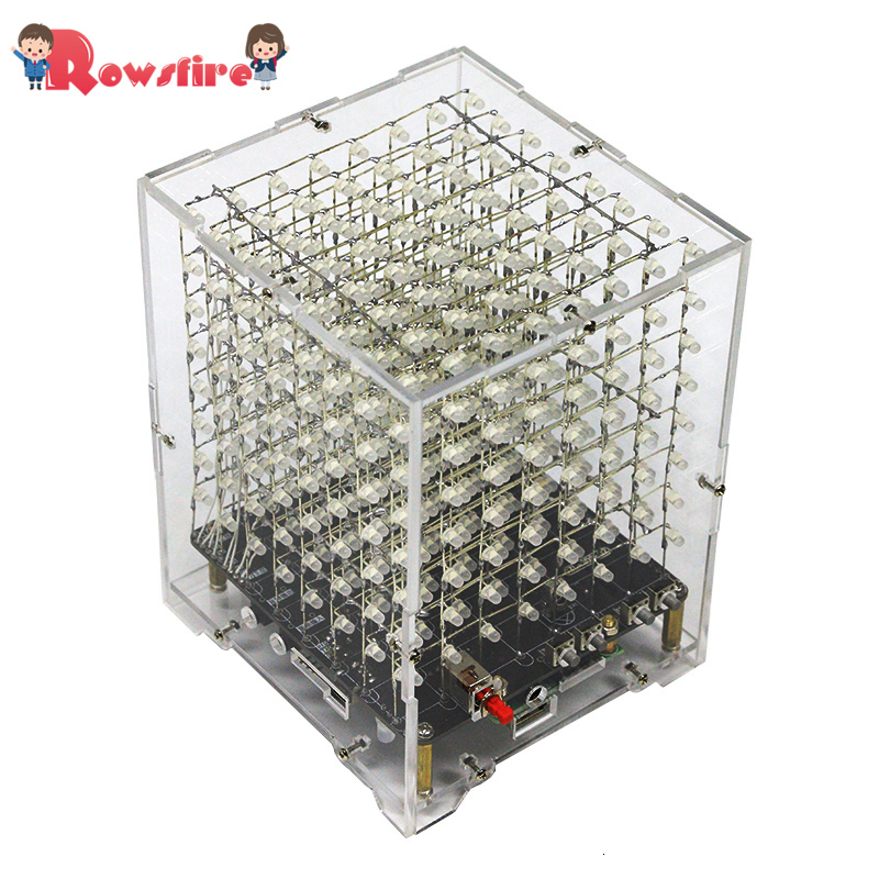 DIY Welding Electronic Bulk Parts Bluetooth Light Cube Kit (With Bluetooth, Remote Control, Seven Colours Changing, With Shell)