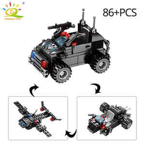 Image 5 - HUIQIBAO 695PCS 8in1 SWAT Police Command Truck Building Blocks City Helicopter Model Bricks Kit Educational Toys for Children