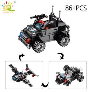 Image 5 - Huiqibao 695 個 8in1 swat 警察コマンドトラックビルディングブロック都市ヘリコプターモデルレンガキット教育玩具子供のため