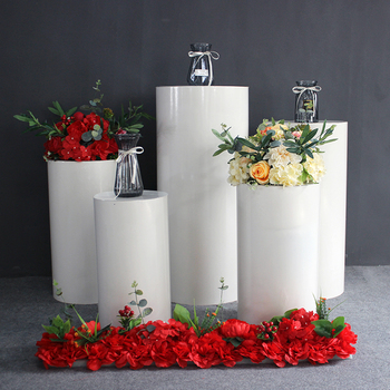 Wedding Props Iron Art Cylindrical Set Wedding Road Lead Dessert Table Birthday Party Display Festive Decorations Stand Set freeshippingwedding props road lead new crystal road lead square road lead wedding supplies acrylic road lead frame bracket vase