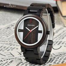 Relogio bobo pássaro relógio de madeira masculino quartzo relógios de pulso novo design relógios para homem e mulher de madeira presente dropshipping