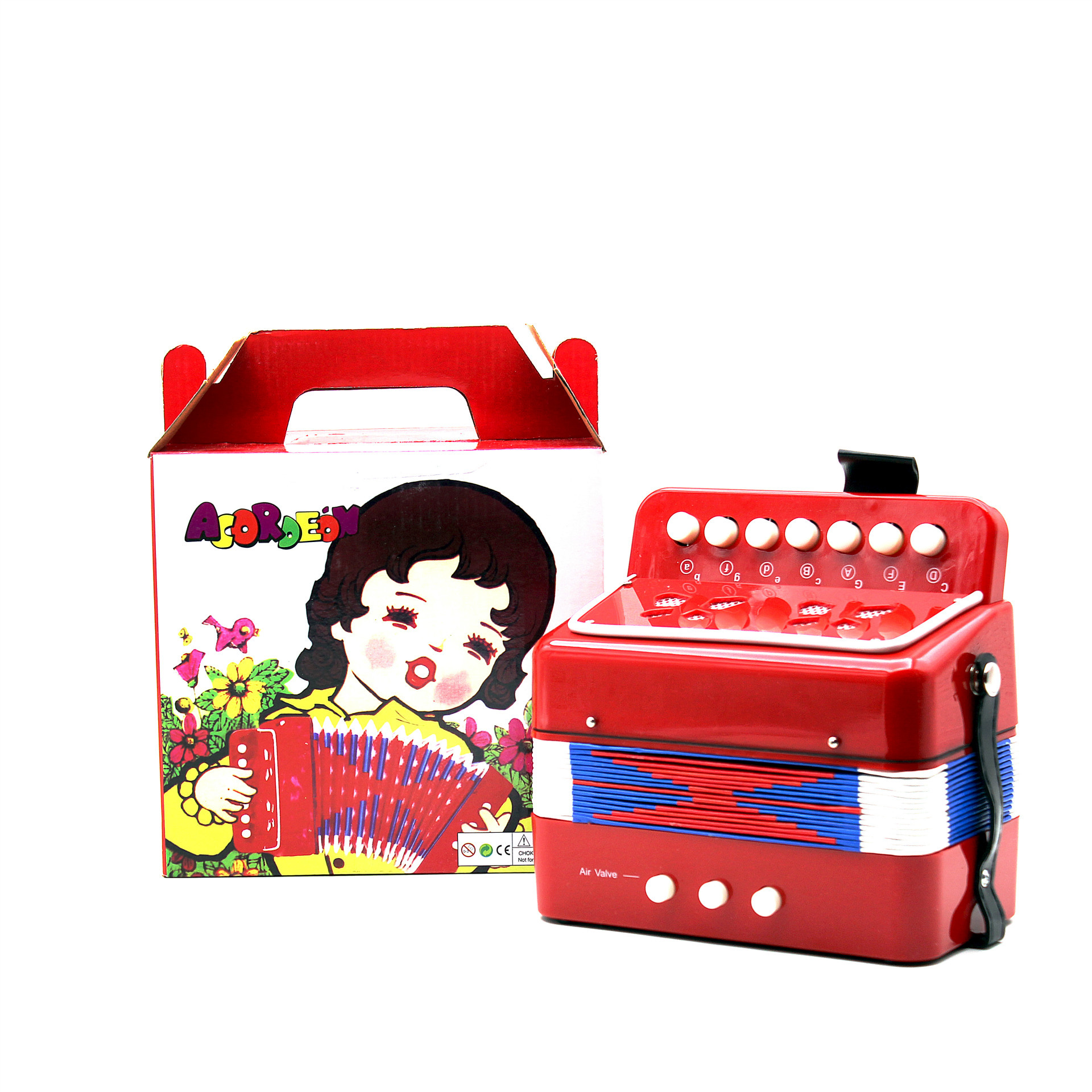 103 CHILDREN'S Toy Accordion Educational Play Hand-Style Lian Xi Qin
