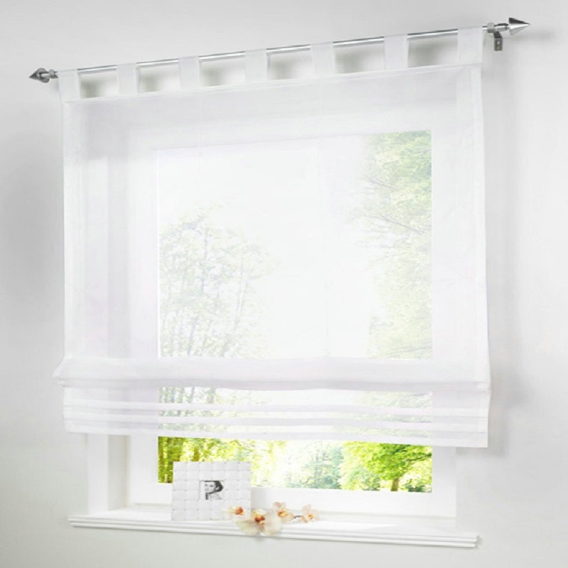 Modern Kitchen Short Tulle Curtain Translucidus Roman Curtain Sheer Valance Screening Panel For Bedroom Balcony Kitchens Window