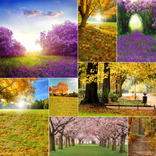WHISM  8 Styles Nature Landscape Theme Canvas 3x5 Feet Photography Background Cloth Home Decoration Painting