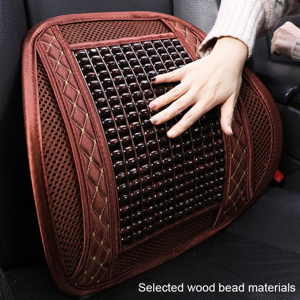 Universal Car Summer Seat Covers Wooden Massaging Breathable Back Cushion for Car Office Home Cushion Interior Accessories Hot image