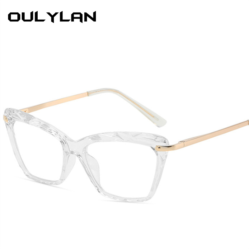 Oulylan Retro Glasses Frame Women Eyeglasses Computer Myopia Optical Female Vintage Ladies Eyewear Clear Lens Spectacle Frame