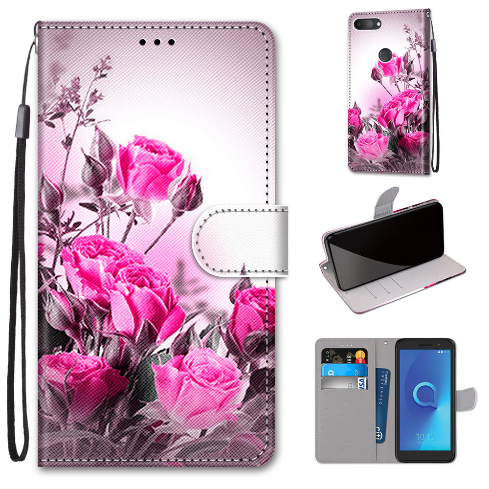 For <font><b>Alcatel</b></font> <font><b>1S</b></font> 1 s <font><b>5024</b></font> D 5024Y 5024K Cases Mobile Phone Wallet Capa For <font><b>Alcatel</b></font> <font><b>1S</b></font> 5024D Case Protect Stand Leather Flip Cover image