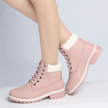 Ankle Boots For Women Snow Boots Female Winter Shoes Fashion Women Boots For Martin Boots Women Shoes Black Booties Plus Size 41 недорого