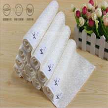 1pcs High Efficient ANTI-GREASY Bamboo Fiber Wash Cloth Dishcloth Clean Towel Magic Kitchen Washing Cleaning Cloth Scouring Pad