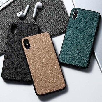 Funda con textura de tela de lujo para Moto G7 Power Case, carcasa trasera de silicona para Motorola Moto G7 PLay G7 Plus E6 Plus E5