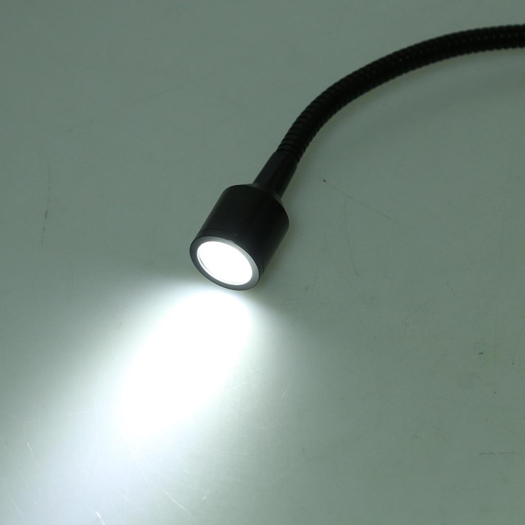 12V 3W LED Spot Reading Light Switch Camper Caravan Bedside Wall 6000K
