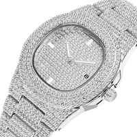 Hip Hop glacé montre hommes diamant marque de luxe Quartz hommes montres or horloge Date montre-bracelet zegarek meski relogio masculino