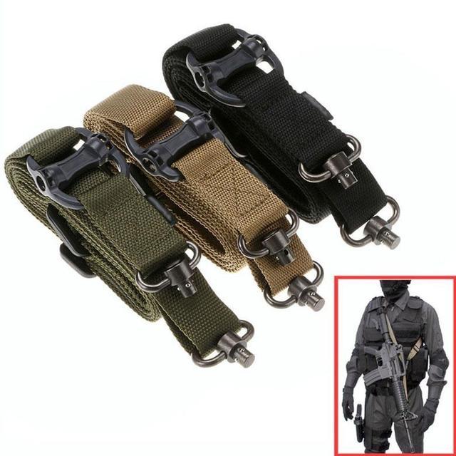 Magorui Hunting Tactical Rifle Gun MS4 Sling Strap Quick Detach QD Swivel Dual 2 Points 1