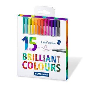 Image 2 - STAEDTLER triplus fineliner Canetas 0.3 milímetros Marcador caneta gel caneta caneta linha agulha de Ponta Cor de metais folheados ou chapeados 15/36 cores DP040