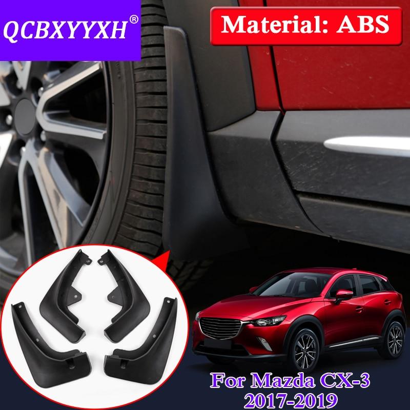 HIGH Flying 4pcs Front/&Rear Mud Splash Flaps Guards Mudguard for Mazda 3 M3 Axela Sedan 2014 2015 2016 2017