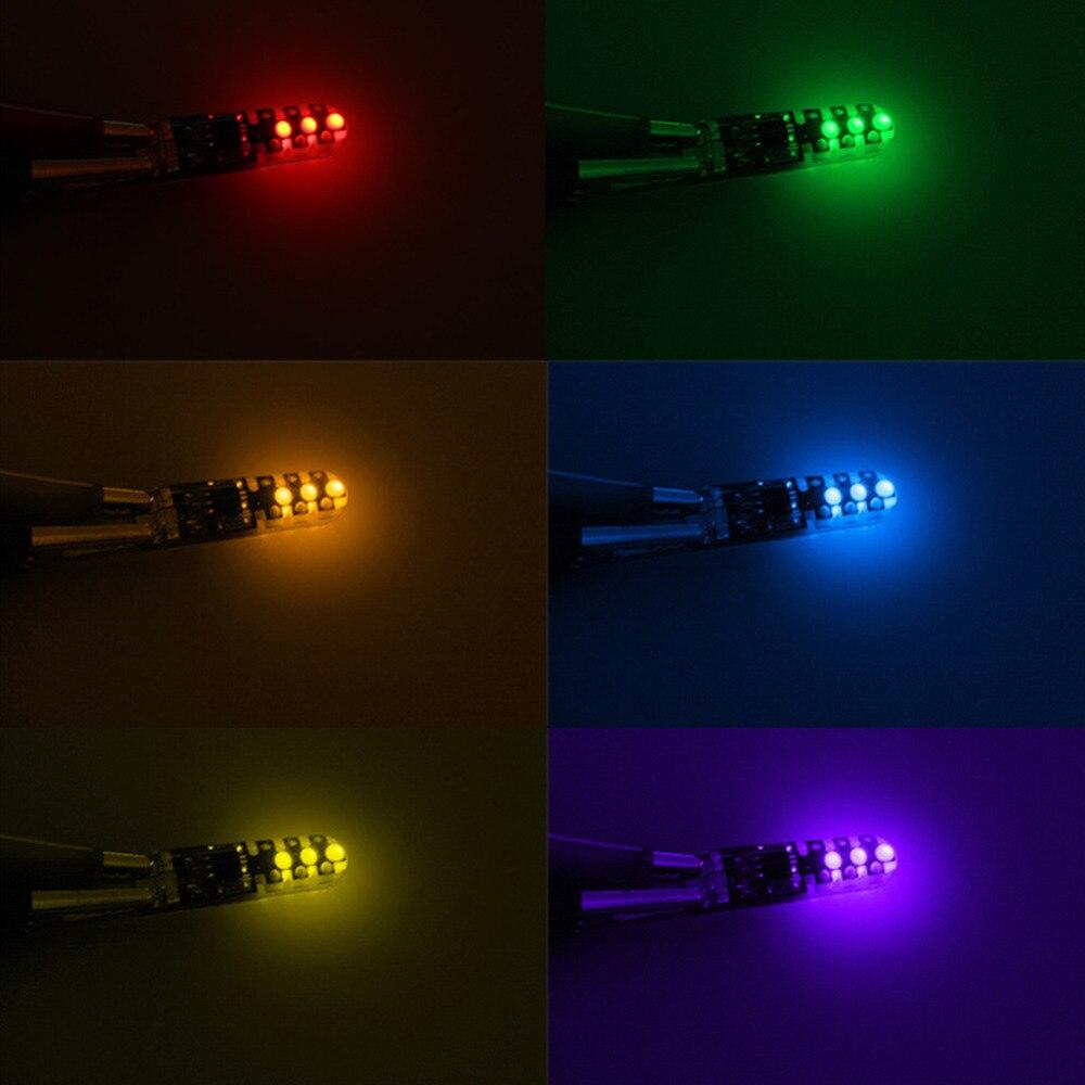Автомобиль светодиодная вспышка светильник t10 w5w цветная (rgb)