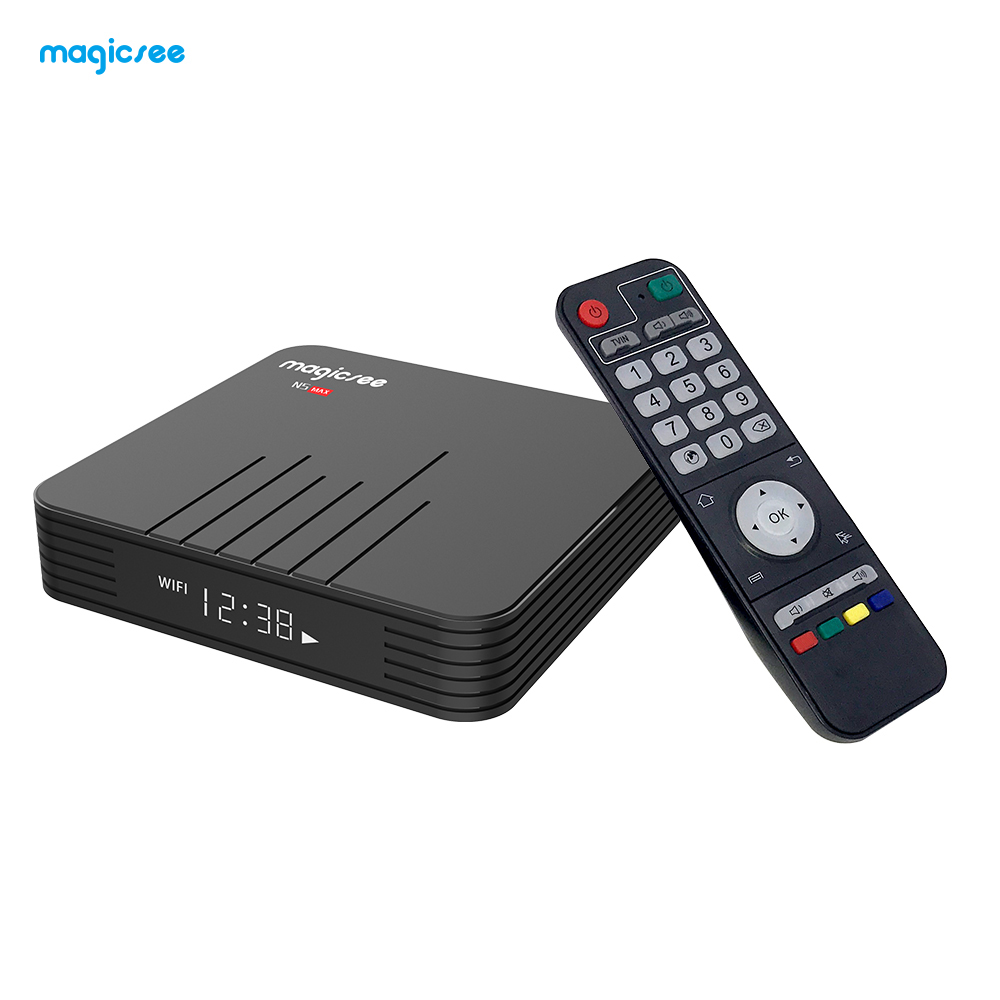 Magicsee N5 MAX Android TV Box 4GB RAM 128GB ROM Amlogic S905X3 Media Player 2.4G 5G WiFi Bluetooth 4.1 4K HD Smart Android Box(China)