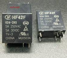Relé HF42F-024-2HS JZC-42F-024-2HS 6-pin 5A250VAC